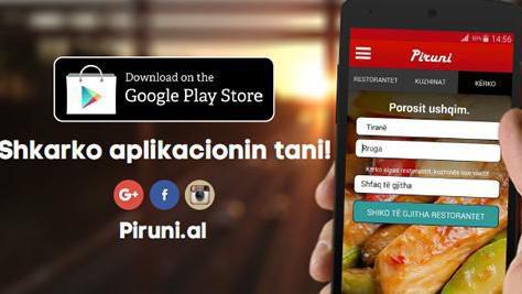 Porosisni Online Ushqimin tuaj te preferuar / Tani dhe ne Play Store