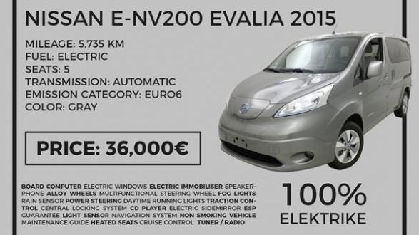 Shitet Nissan Evalia 2015 - 100% Elektrik